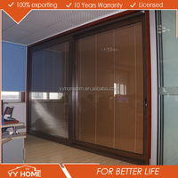 YY Home Luxurious High Quality Aluminum Lift And Slide Door With Built- in Blinds Comply With AU & NZ Standards