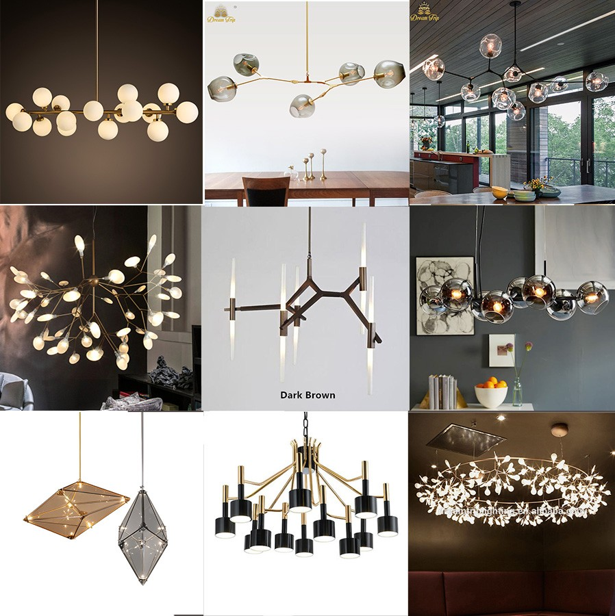 Jansoul Recommend Modern Chic Black Handmade Glass Chandelier For Decoration