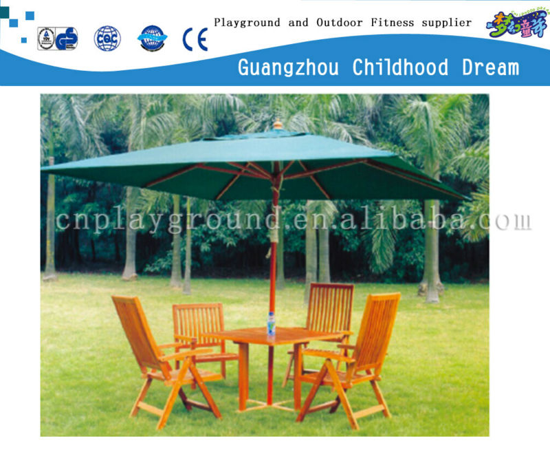 (HD-19604)Wooden bench with roof picnic table set