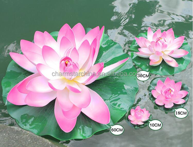 Factory Supply artificial lotus flower for pool decorative plastic lotus water lily artificial floating lotus flower
