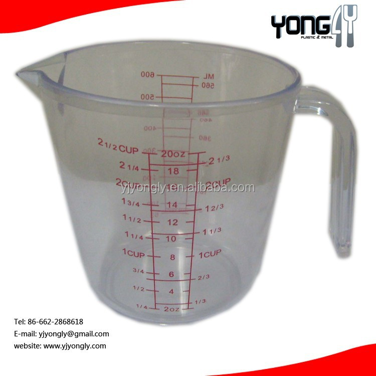 Measuring Cup, Red Graphics, Clear, kitchen measuring cup