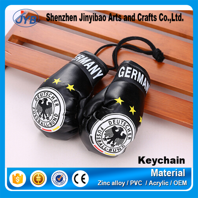 custom Promotional gifts pu leather cool mini boxing glove keyring