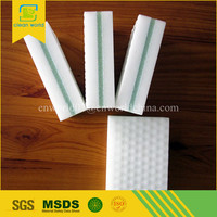 household women introduce melamine sponge foam