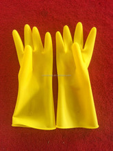 Long sleeve liquid proof industria latex rubber /Industrial working safety latex Gloves