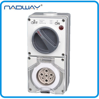56CV710 10A/500V 7 Poles Industrial Water-resistant Electrical Combination Switch Socket