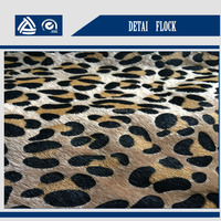 factory price 5% off korean fabric faux fur cheap fabric leopard textile materials for making shoes