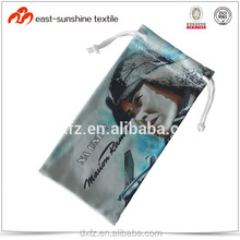 High quality Photo printing double drawstring microfiber ski goggle pouch bag