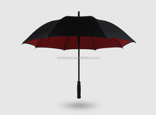 Red and black promotional market golf umbrella