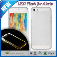 C&T TPU transparent LED Incoming Call Flash Light Case For iPhone 5 5S