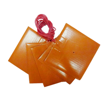 Silicone Rubber Flexible Heated Pad/Mat/Plate/Sheet for Machinery 350x350mm 24v 400w with Adhesive, 100k Thermistor