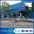 Economical Residential Steel structure prefabricated 40 feet container house 2017