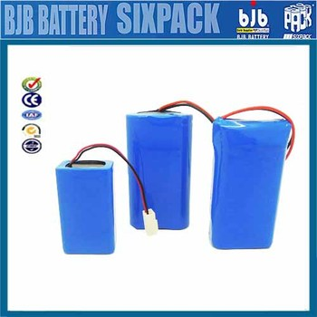 Customized Rechargeable 7.2v 1800mAh li-ion battery pack, LiFePo4 a123b battery pack