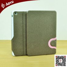 2014 new arrival stand pu leather case for ipad mini