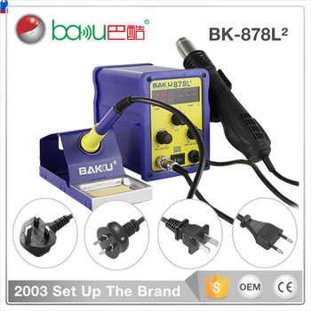 BGA Stable Hot Air Desolder Station Temperature Control Rework Mobile Repairing SMD 2In1 LED Display Soldering Station BK-878L2