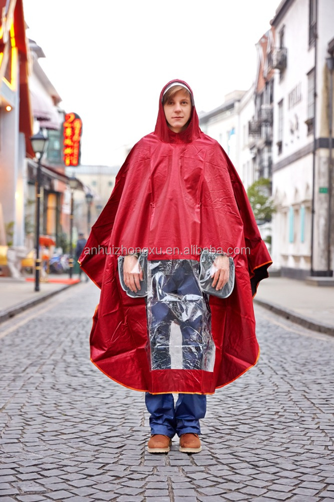 2016 fashion high quality motorcycle/electric vehicle/poncho raincoat for adult