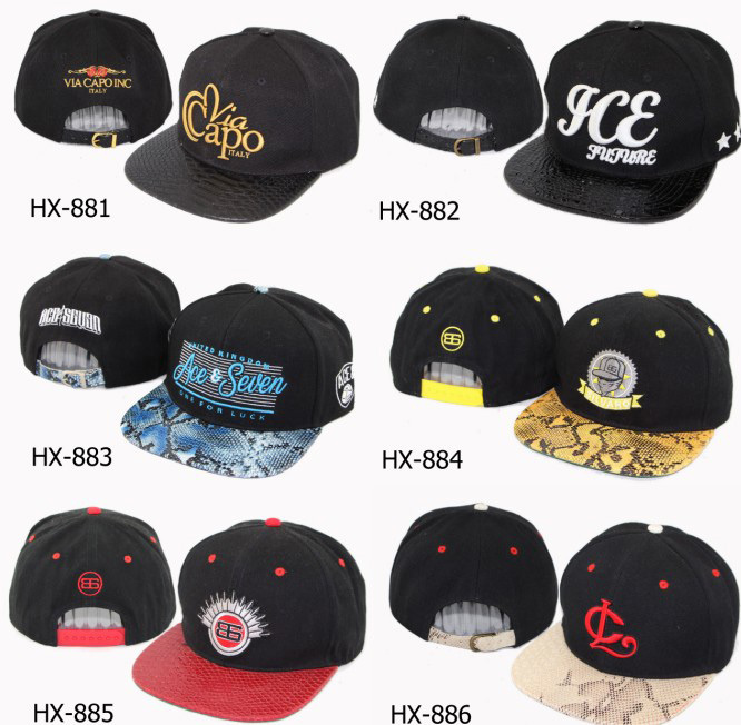 Customized oem factory gold plate rivet snapback cap hat