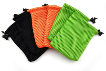 Travel Colorful Nylon Mesh Drawsting Pouches for Mini Stuff