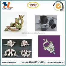 ZhongHe steel iron precision casting scaffold fitting 90 degree scaffolding clamp coupler