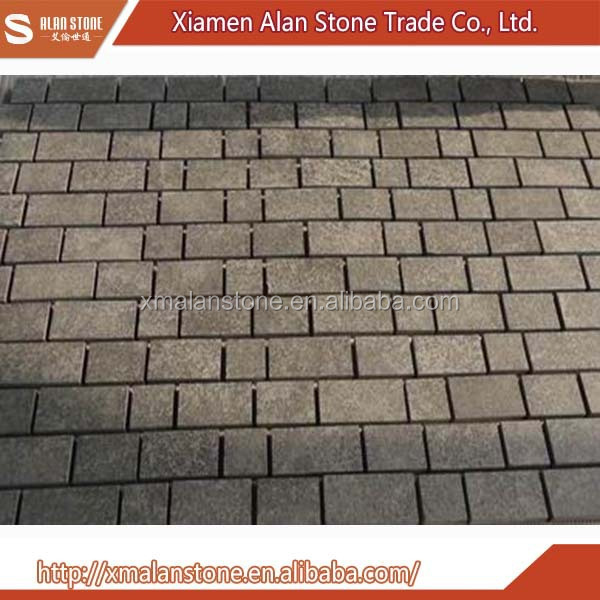grey color paving stone and laying granite paving stones
