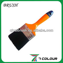 Black pig bristle paint brush for painting