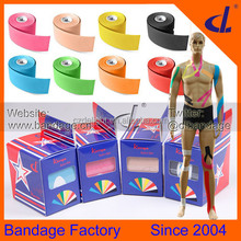 Sport stars recommendation Medical kinesiology tape for athletes with national patents and CE FDA and ISO certificates
