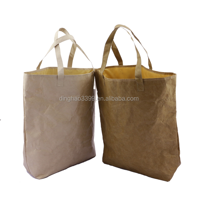 washable tearproof Kraft Paper shopping handbag popular in Japan market