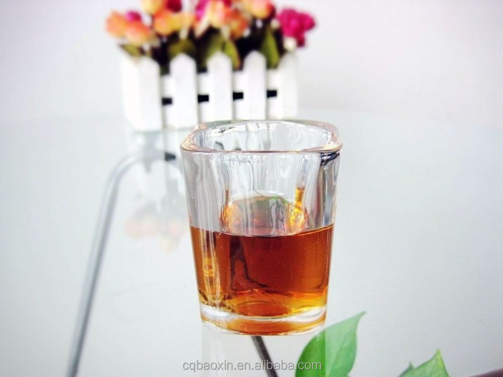 Factory price for shooter glass square wine glasses 70ml/2.3oz (glass factory had passed FDA,EU,SGS,GB)