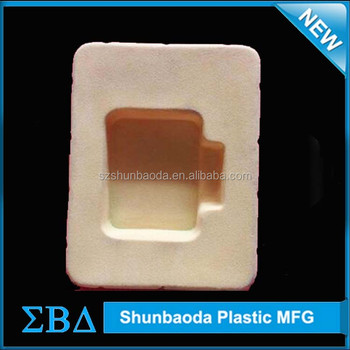 Customized polystyrene ps flocking tray, nut tray, flocked blister trays for gifts