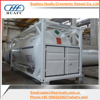 ISO 20 feet 5000 gallon liquid tanks oxygen
