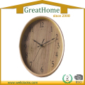 Oval Home decor Natural Wooden Wall Clock