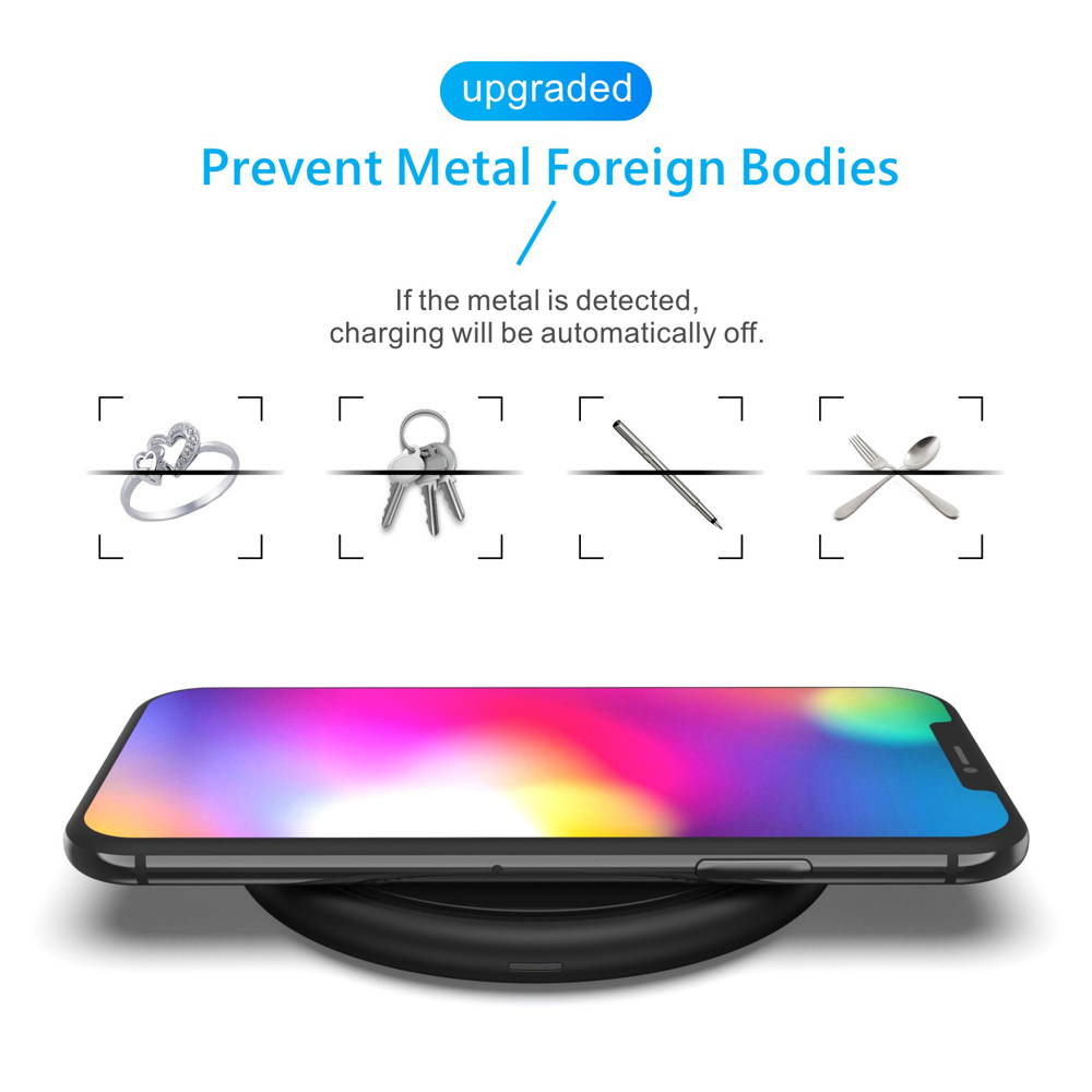10w Fast Qi Wireless Charger 7.5w For Iphone X