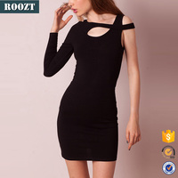 2016 New Arrival Autumn Knit Dress Clothes Black Sexy Dresses For Women