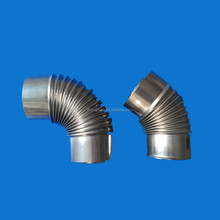 SS/stainless steel corrugated exhaust pipe elbow