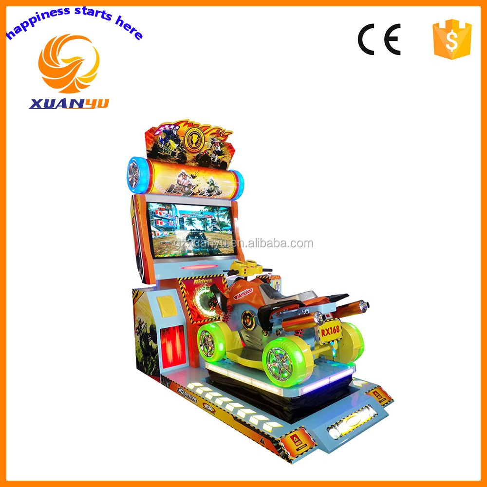 2016 NEW coin operated 4D dynamic simulator car racing crazy four wheeler arcade video game machine for sale