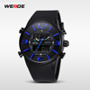 WEIDE watches with rubber WH3402 luxury business men watch custom men's watch