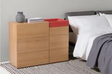 Wholesale bedroom furniture Oak wood Red Wide Chest of Drawers