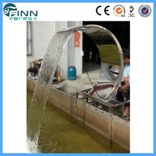 resisting stainless steel 304 arc hook shaping prefab waterfall with light