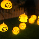 Halloween Accessories Battery Operated Halloween Garden Party Christmas Decoration 20 Led Pumpkin String lights