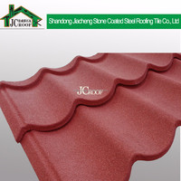 Excellent quality Easy to install color stone chip coated steel roof