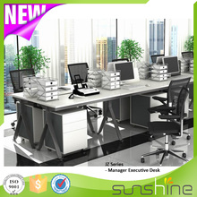 New Arrival Guangzhou Sunshine Office Furniture Factory Wholesale Price 4 People Use Office Desk Workstations