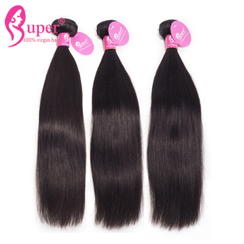 Cheap Brazilian Virgin Hair Straight Human Hair 3 Bundles With 4x4 Lace Closure
