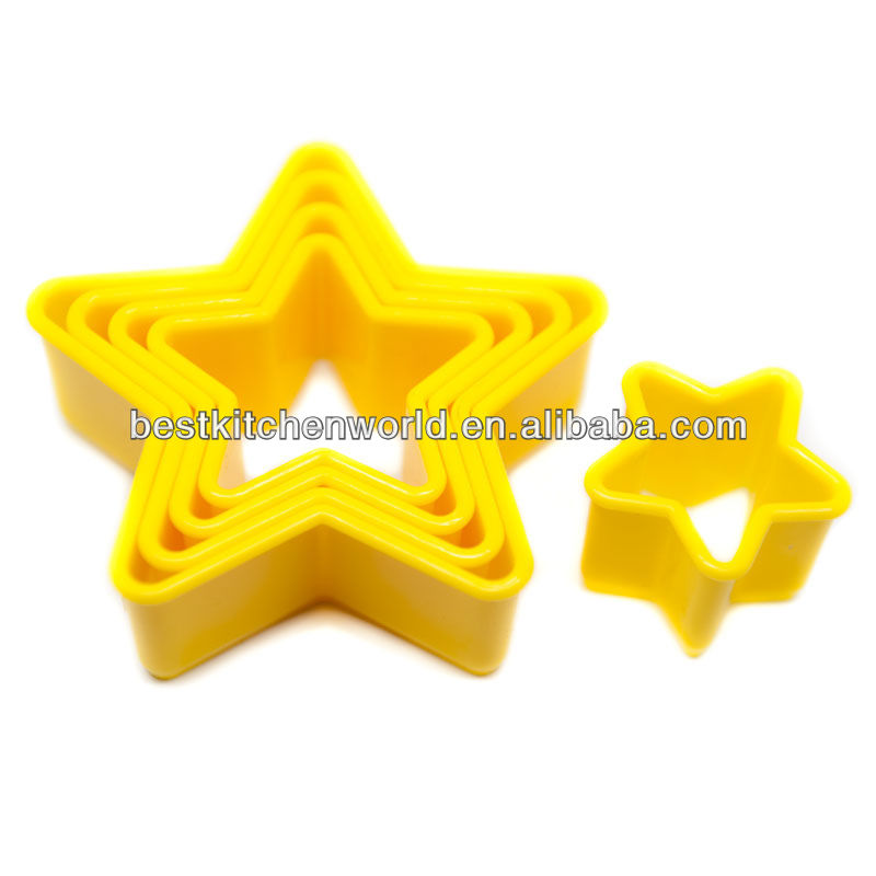 5 Pieces Star Shape Plastic Cookie Mold