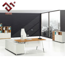 High Gloss Surface L Shaped Stainless Steel Work Table