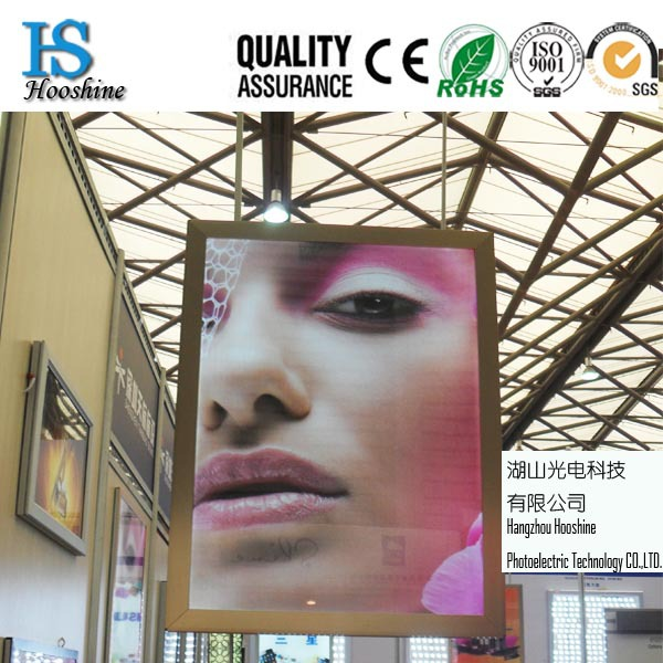 Double side hanging style slim aluminum advertising Light Box,<strong>a1</strong>