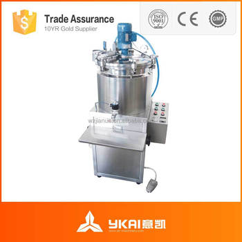 Vacuum Bubble Free Mixer and Filling Machine