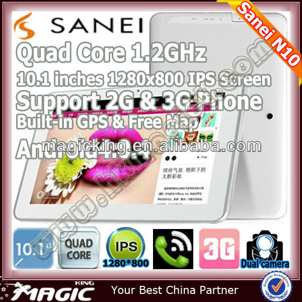 N10 2g&3g phone android 10.1 inch china gps quad core tablet