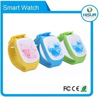 Newest kids GPS tracker security watch with GSM+LBS positioning for SOS and safety