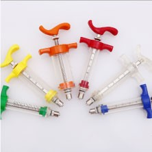 2017 ZJKR pet clinic Medical Plastic Steel TPX veterinary vaccine syringe