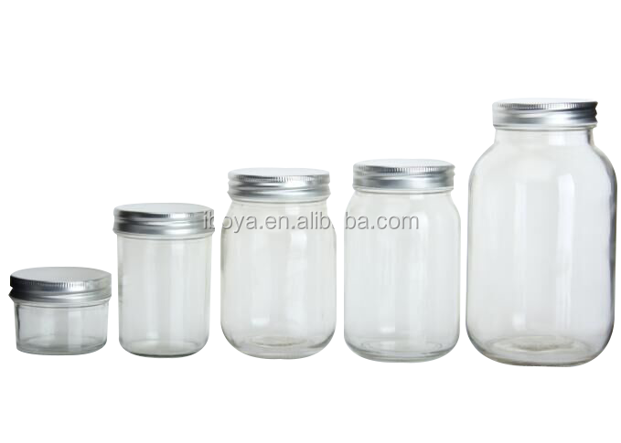 1.Mason Jar With Silver Cap