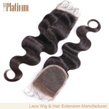 Wholesale Free Parting Body Wave 100% Peruvian Virgin Hair Lace closure